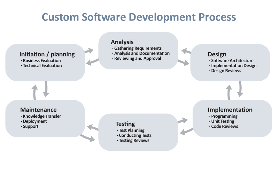 custom software development image